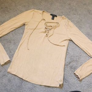 Tops - F21 lace up long sleeve